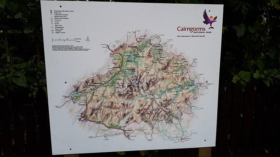 מפת שמורת הטבע Cairngorms