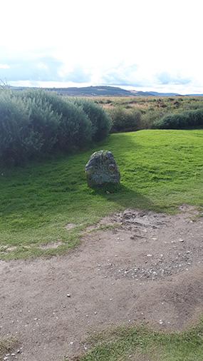 אחת מאבני הזיכרון ללוחמי השבטים שנהרגו במקום