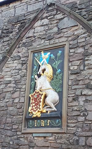 סמל החד קרן בארמון הולירוד