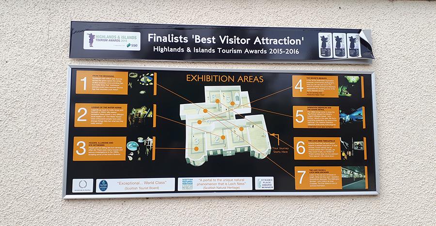 מפת מרכז המבקרים של לוך נס
